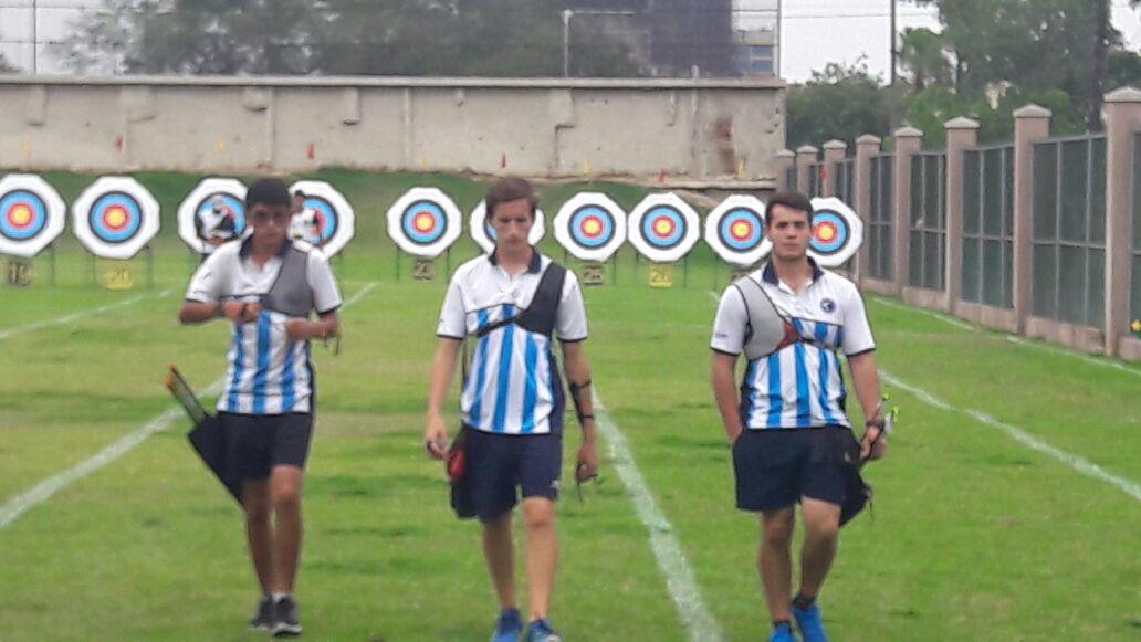 De izquierda a derecha son Damian Jajarabilla, Tomas Tisocco y Leonel Aranda