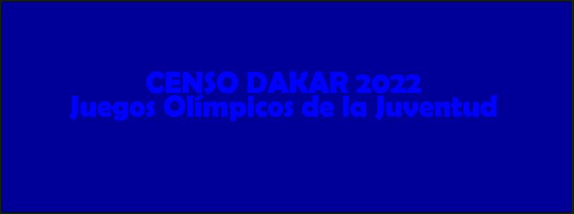 19/02 - Censo Dakar 2022