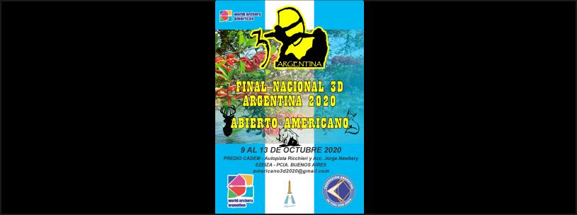 9 al 13/10 - Final Nacional 3D